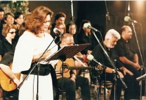 Valeria Moriconi insieme al gruppo La Macina
