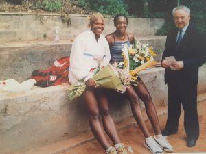 Aldo Impiglia con Serena e Venus Williams