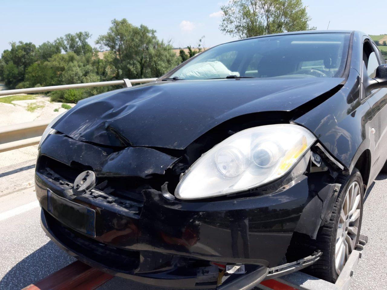 Auto coinvolte incidente jesi 20 luglio 2
