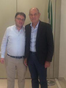 Il presidente Erap, Massimiliano Bianchini, e il sindaco Massimo Bacci