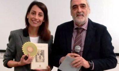 La giornalista Giorgia Cardinaletti alla consegna dei diplomi al Liceo Stelluti