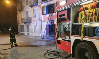 abitazione in fiamme a Borghetto di Monte San Vito