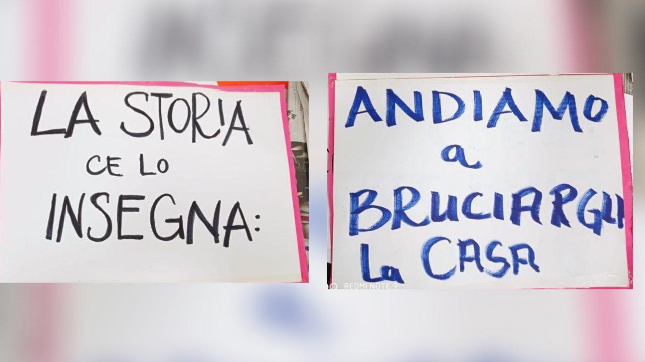 cartelloni manifestazione pro aborto