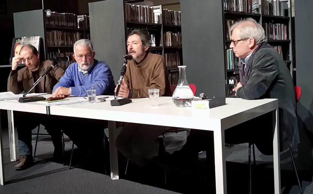 Francesco Scarabicchi insieme con altri scrittori