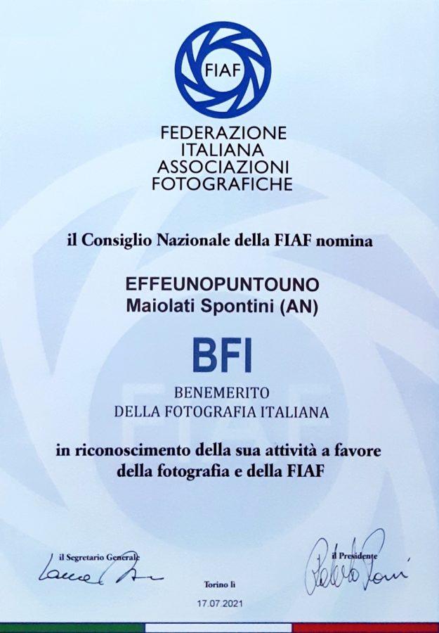 effeunofest, benemerito della Fotografia Italiana